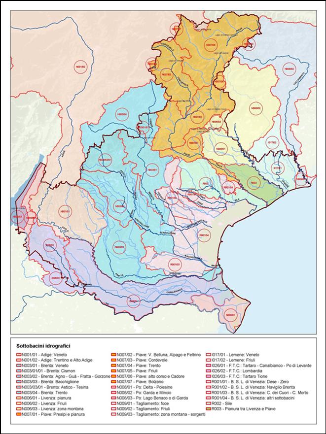 Bacini idrografici Veneto